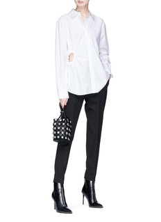 T By Alexander Wang Cut-out waist shirt