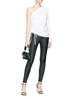 T By Alexander Wang Ruched one-shoulder poplin top