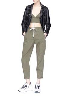 T By Alexander Wang Cropped cotton twill cargo pants