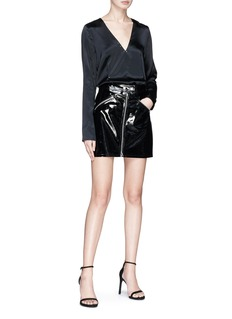 T By Alexander Wang Stud silk charmeuse top