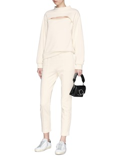 T By Alexander Wang Cropped French terry sweatpants