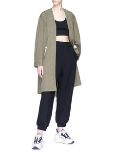 T By Alexander Wang Drawstring cotton twill jacket