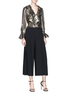 alice + olivia 'Graham' pleated cropped crepe pants