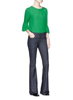 alice + olivia 'Bernice' ruffle sleeve top