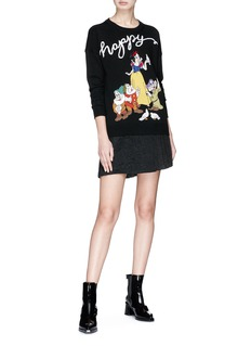 alice + olivia 'Rudy' character embroidered wool sweater