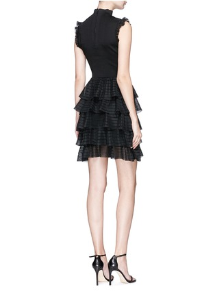 Back View - Click To Enlarge - alice + olivia - 'Janice' tiered ruffle knit dress