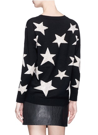Back View - Click To Enlarge - alice + olivia - 'Bao' strass star intarsia wool sweater