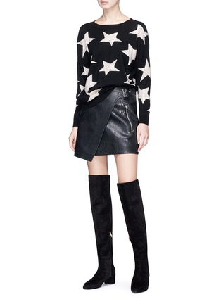 Figure View - Click To Enlarge - alice + olivia - 'Bao' strass star intarsia wool sweater