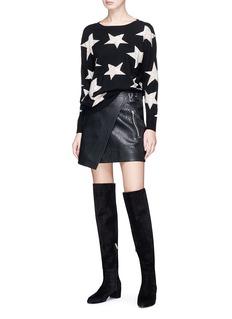 ALICE + OLIVIA BAO铆钉装饰星星提花针织衫