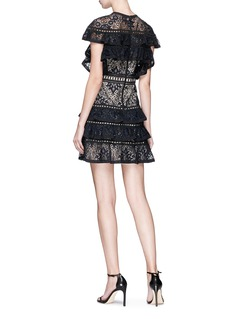 alice + olivia 'Jolie' tiered ruffle guipure lace dress