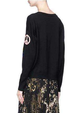 Back View - Click To Enlarge - alice + olivia - 'Eleni' slogan wool sweater
