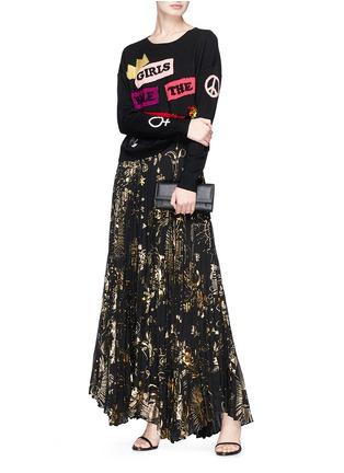 Figure View - Click To Enlarge - alice + olivia - 'Eleni' slogan wool sweater