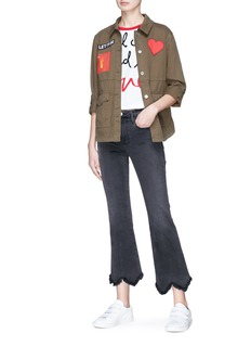 alice + olivia 'Charline' patch military jacket