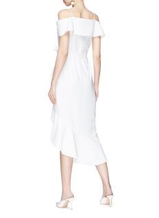 alice + olivia 'Josie' off-shoulder asymmetric ruffle wrap dress