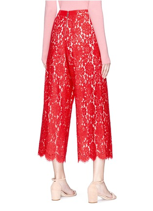 Back View - Click To Enlarge - alice + olivia - 'Olsen' floral guipure lace culottes