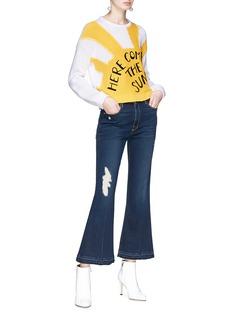 alice + olivia 'Leena' slogan embroidered sweater