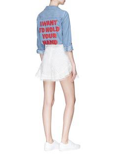 ALICE + OLIVIA Eloise Beatles主题牛仔衬衫