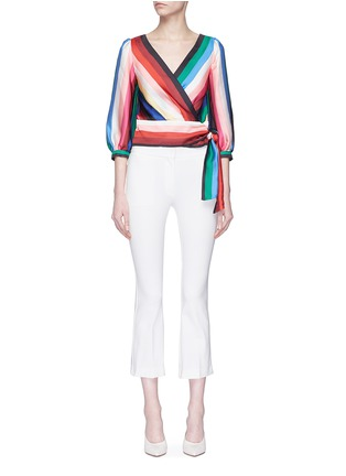 Main View - Click To Enlarge - alice + olivia - 'Dyanna' stripe tie waist top
