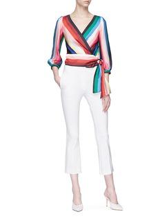alice + olivia 'Dyanna' stripe tie waist top