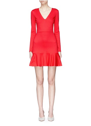 Main View - Click To Enlarge - alice + olivia - 'Francine' ruffle hem dress
