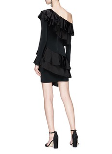 alice + olivia 'Izzy' tiered ruffle one shoulder dress