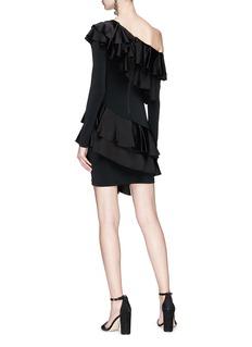 alice + olivia 'Izzy' tiered ruffle one shoulder dress