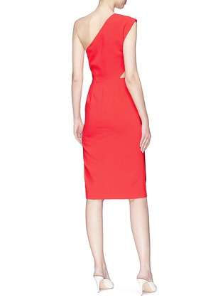 Figure View - Click To Enlarge - alice + olivia - 'Gina' cutout waist one-shoulder dress
