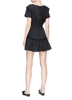 alice + olivia 'Garner' ruffle trim tiered dress