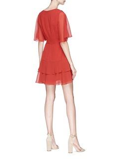 C/Meo Collective  'Allude' asymmetric ruffle crepe mini dress