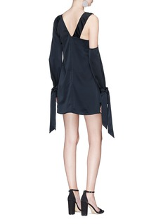 C/Meo Collective  'Eventual' twist front satin mini dress