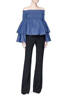 Caroline Constas 'Appolonia' chambray off-shoulder top
