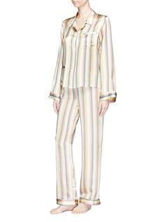 Morgan Lane 'Chantal' stripe silk charmeuse pyjama pants
