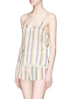 Morgan Lane 'Jac' stripe silk charmeuse camisole top