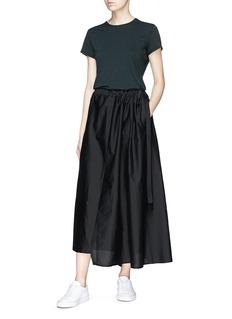 bassike Drawstring cotton-silk maxi skirt