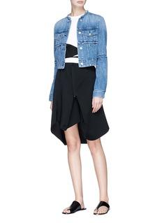 bassike Bandage belted asymmetric paperbag skirt