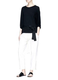 bassike Belted long sleeve T-shirt