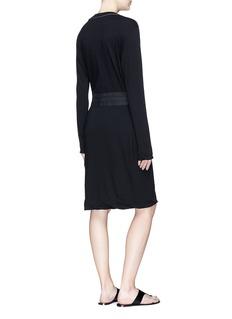 bassike Belted long sleeve T-shirt dress