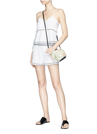 Figure View - Click To Enlarge - Kisuii - 'Gal' smocked waist voile shorts