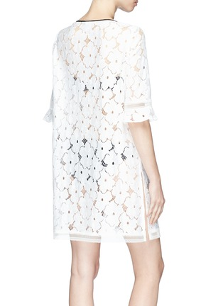 Back View - Click To Enlarge - Kisuii - 'Mila' floral lace jacket
