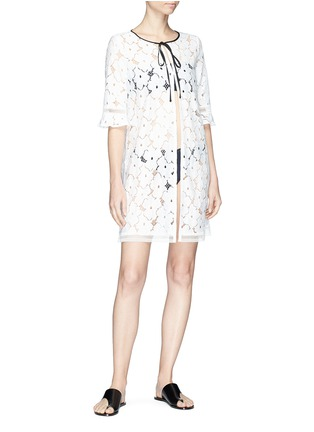 Figure View - Click To Enlarge - Kisuii - 'Mila' floral lace jacket