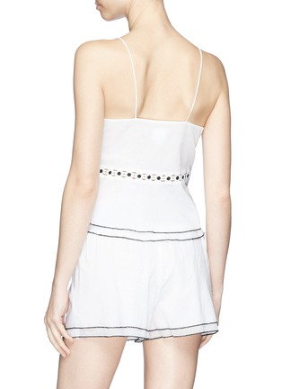 Back View - Click To Enlarge - Kisuii - 'Emma' floral cutout waist camisole top