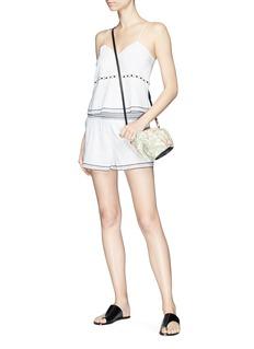 Kisuii 'Emma' floral cutout waist camisole top
