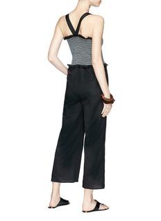 Kisuii 'Yam' smocked top voile jumpsuit