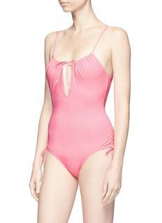 Kisuii 'Uma' tie keyhole front one-piece swimsuit