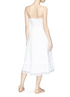 Kisuii 'Yael' ruffle wrap camisole dress