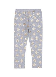 Little Starters x Lane Crawford Metallic star print jersey kids leggings