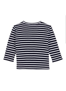 Little Starters x Lane Crawford 'Superstar' slogan embroidered stripe kids T-shirt
