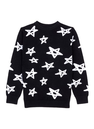 Main View - Click To Enlarge - Little Starters x Lane Crawford - Star intarsia knit kids sweater
