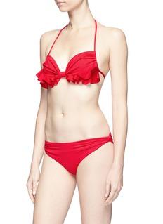 Marysia 'Zuma' ruffle trim halterneck bikini top