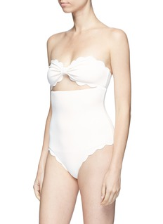 Marysia 'Antibes' cutout scalloped edge one-piece swimsuit